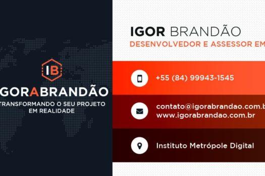 Igor Brandão - Cartão de visitas frente